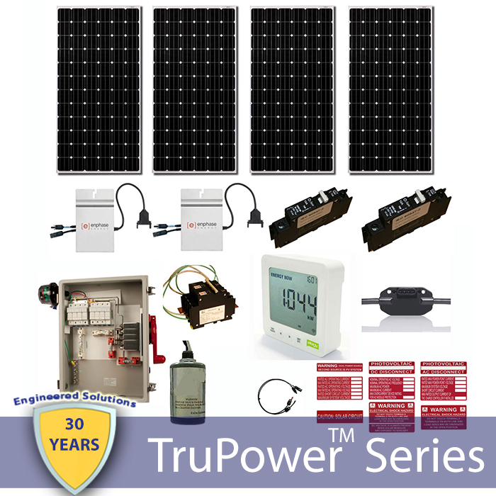 TruPower AC Grid Tie System 1200W (Micro-Inverter)