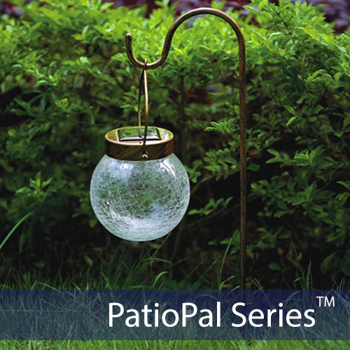Solar crackled globe light solar lights