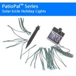 Solar Icicle Holiday Lights