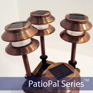 Two-Tier Copper Solar Garden Light