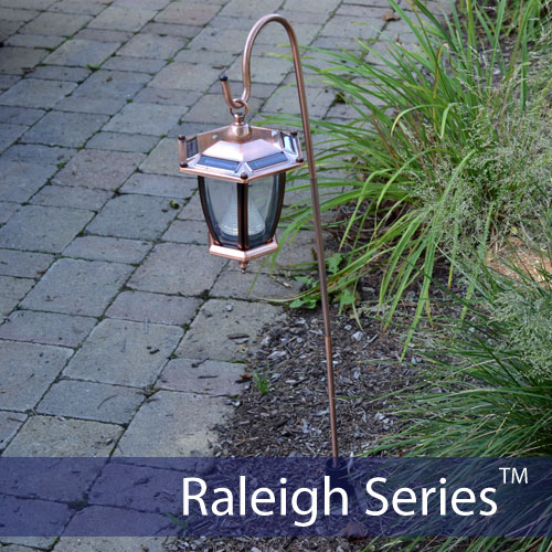 4-Pack Raleigh Series Solar Garden Lights