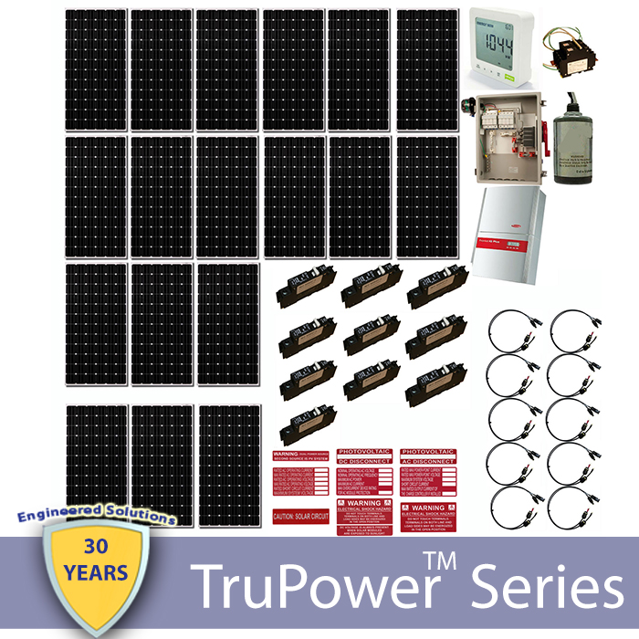 TruPower AC Grid Tie System 5400W (String Inverter)