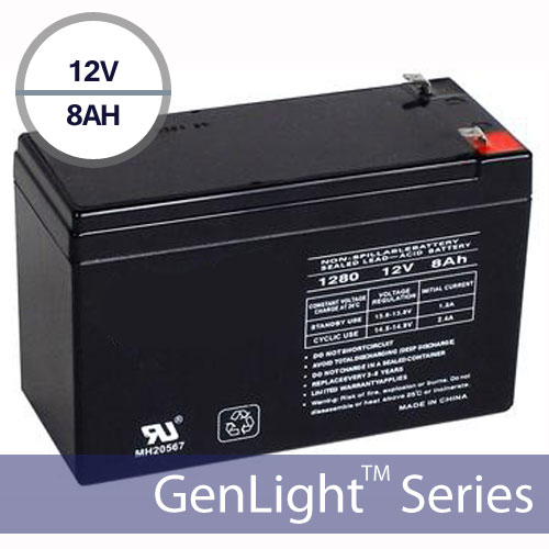 Replacement Battery for Genlight 108 LEDs 12V 8AH