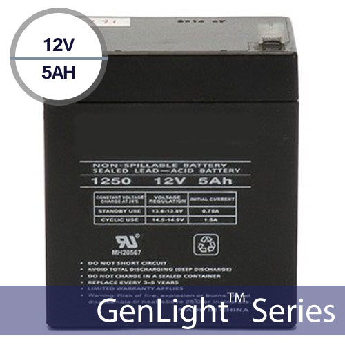 Replacement Battery for Genlight Solar Sign & Flood Lights 12V 5AH