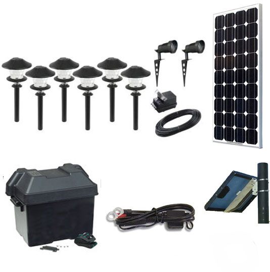 Solscape 2x Solar Landscape Lighting Kit Spotlight Fixtures
