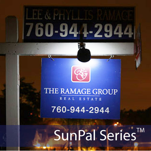 2 LED Solar Real Estate Sign Lights