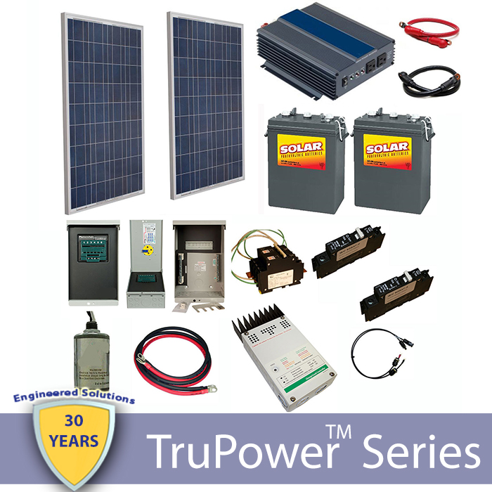 Trupower Ac Off Grid Cabin Kit 240w Sunny Shop Solar