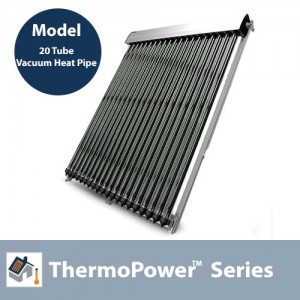 ThermoPower VHP20 V1 - 20 Tube Evacuated Tube Solar Collector