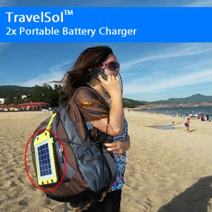 TravelSol 2x Portable Battery Charger