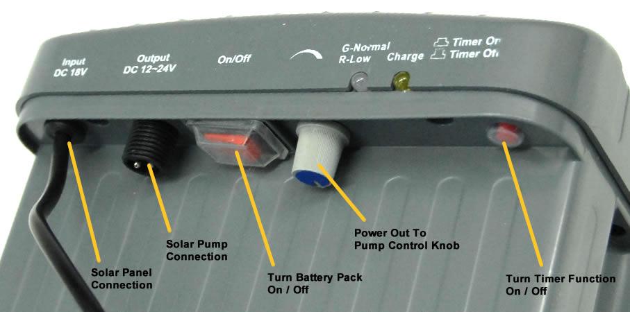 Solar Water Fountain Pump With Battery Backup 24v Aquajet Pro Kit