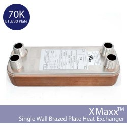 70K Single Wall Solar Heat Exchanger