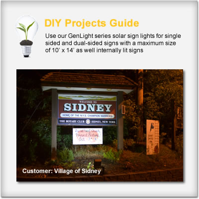 Commercial Solar Sign Lights