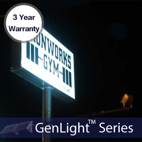 Solar Sign & Flood Light with 120 LEDs W/ 3 Year Warranty