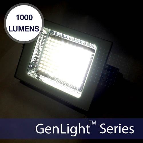 Solar Sign Amp Flood Light With 120 Leds 1000 Lumen Illumination