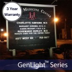 Solar Sign & Flood Light with 120 LEDs W/ 3 Year Warranty