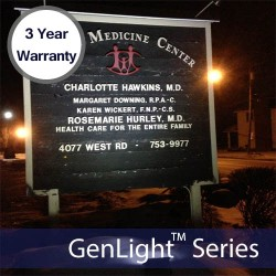GenLight 120LED Solar Sign Light Featuring 3 Year Warranty