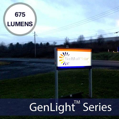 Sunma Internally Lit Sign Genlight Solar Lighting