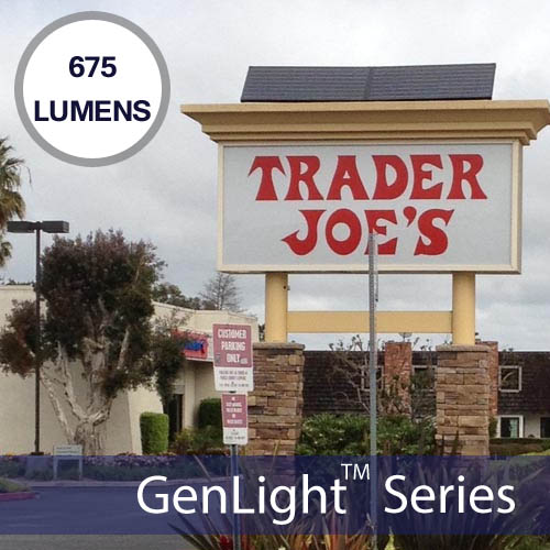 Genlight waterproof indoor outdoor solar 150w led strip solar lights trader joes genlight internal solar sign lighting system workwithnaturefo