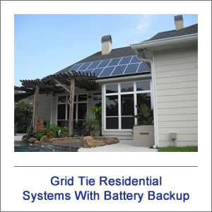 Grid Tie Solar Systems With Battery Backup