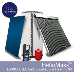 HelioMaxx Solar Hot Water and Space Heating Combi Kit w/CTec – 1500 square feet (Collectors Not Included)