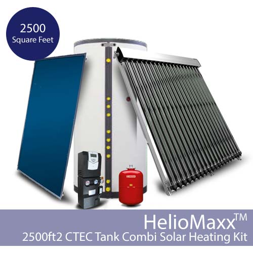 Heliomaxx solar hot water and space heating combi system w for Solar panels for 2500 sq ft home