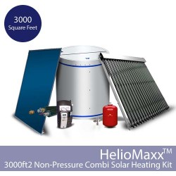 HelioMaxx Solar Hot Water and Space Heating Combi Kit w/NP Tank-3000 square feet (Collectors Not Included)