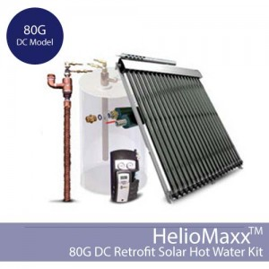HelioMaxx Retrofit Solar Hot Water Kit – 80G / DC (Collectors Not Included)