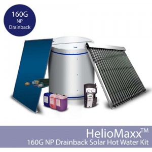 HelioMaxxDB Drainback DHW Kit – 160G / NP (Collectors Not Included)
