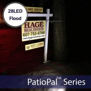 PatioPal 28LED Solar Sign & Flood Light