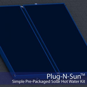 Plug-N-Sun Simple Solar Hot Water Kit