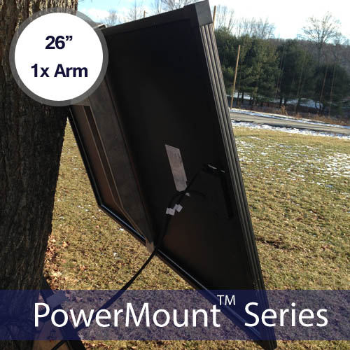 SINGLE ARM SIDE OF POLE MOUNT, 26″