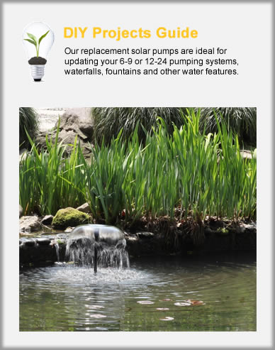 Replacement Solar Fountain Pumps & Kits
