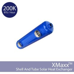 Shell and Tube Solar Heat Exchanger - Cupro-Nickel - 200K BTU