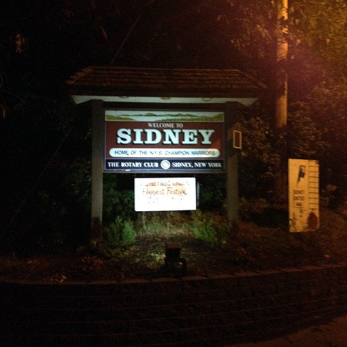 Town Of Sidney Solar Sign Lighting