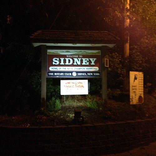 Village Of Sidney Solar Sign Light