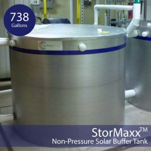 738 Gallon Commercial Solar Hot Water Storage Tank