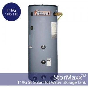 119 gallon StorMaxx SE with 1 heat exchanger and electric element
