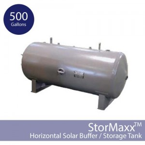 500 Gallon Pressurized Buffer Tank – Horizontal and Non-insulated