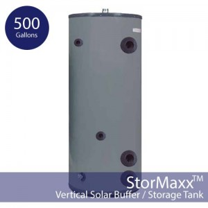 500 Gallon Pressurized Buffer Tank – Vertical and Insulated