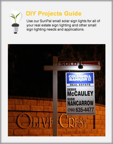 SunPal Small & Real Estate Solar Sign Lights