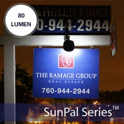 Solar Real Estate Sign Lights 2 LED 80 Lumen Output
