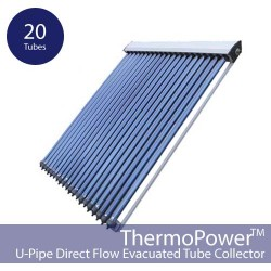 20 Vacuum Direct Flow Solar Collector