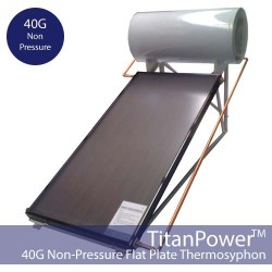 40 Gallon Flat Plate Thermosyphon Solar Hot Water Kit (Non-Pressure)