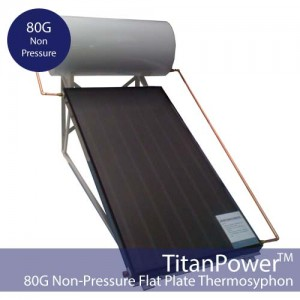 80 Gallon Flat Plate Thermosyphon DIY Solar Hot Water Kit (Non-Pressure)