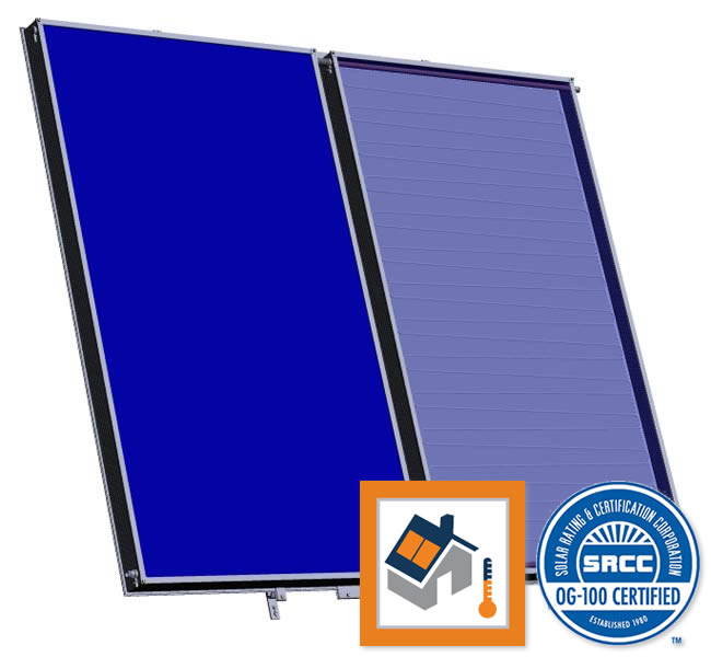 TitanPowerPlus-ALDH29 Flat Plate Solar Collector 3D View