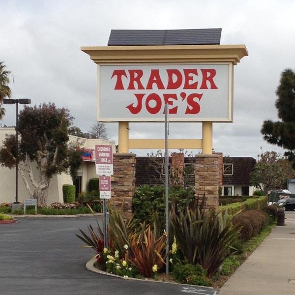 Trader Joe's Solar Sign Lighting