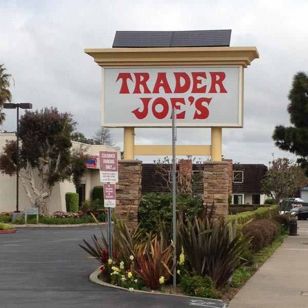 Trader Joe's Solar Sign Lighting