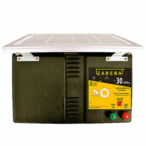 30 Mile Low Impedence Solar Powered Fence Charger Shop Solar